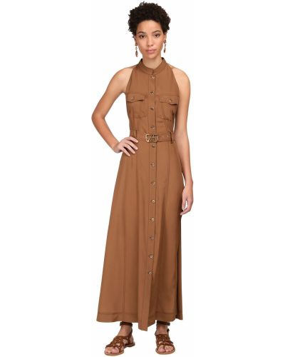 Платье миди на пуговицах восточное Alberta Ferretti