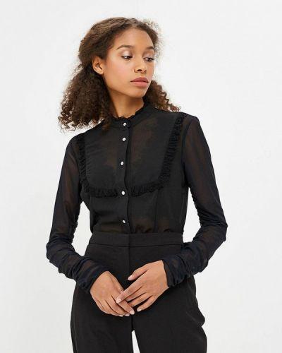 Черная блузка с длинным рукавом Met