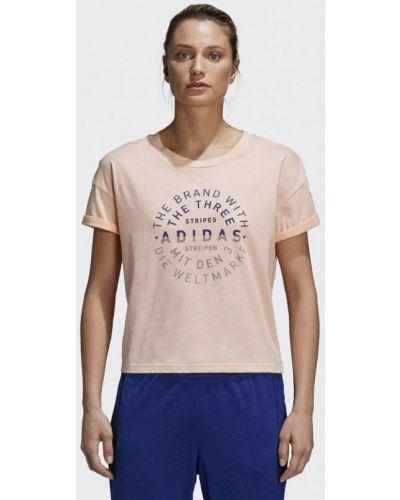Розовая футболка 2019 Adidas
