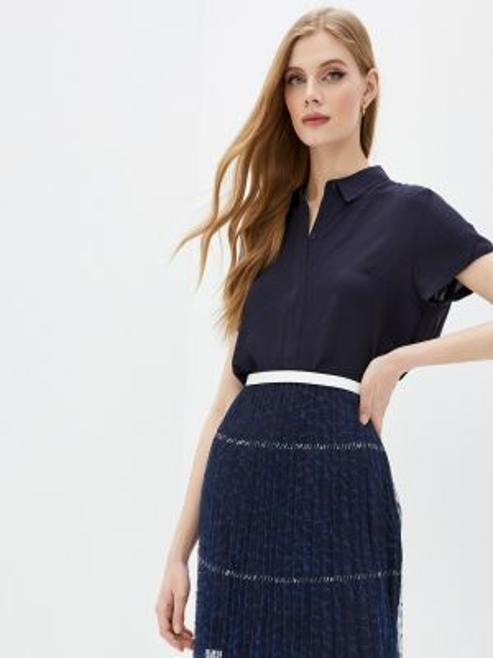 Блузка с коротким рукавом французский синяя French Connection