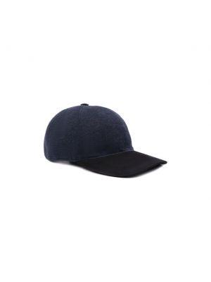Синяя кашемировая бейсболка Capobianco