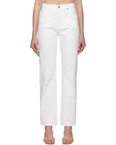 Prosto jeansy z łatami biały Jacquemus