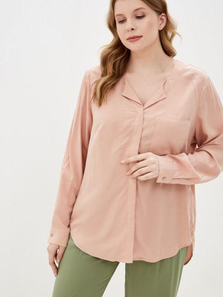 Блузка с длинным рукавом розовая весенний Junarose