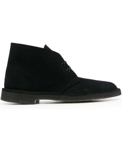 Черные замшевые туфли на каблуке Clarks Originals
