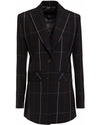 Шерстяной черный пиджак с подкладкой Paul Smith