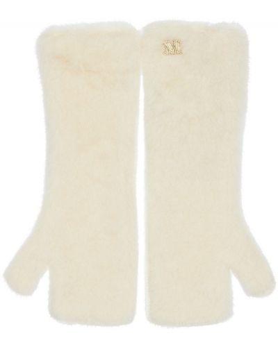 Białe rękawiczki Max Mara