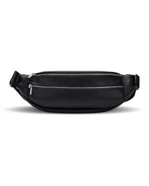 Czarna torebka duża skórzana elegancka Solier