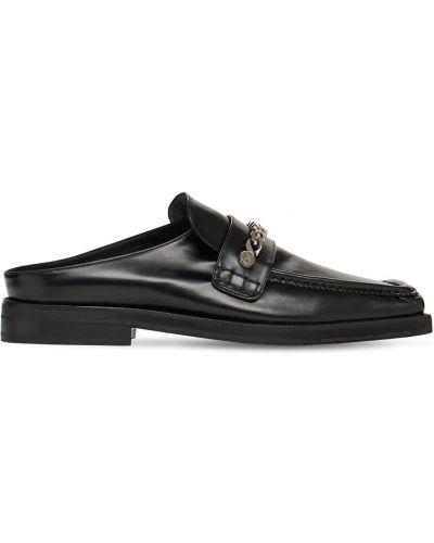 Черные кожаные мюли Mattia Capezzani