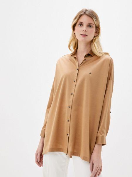 Бежевая блузка с длинным рукавом Naumi
