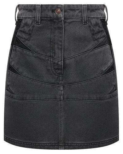 Джинсовая юбка - серая Kenzo