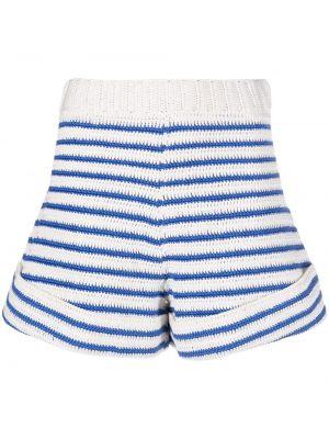 Вязаные хлопковые белые шорты Jejia