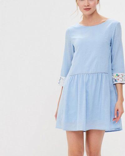 Синее платье весеннее Sweewe