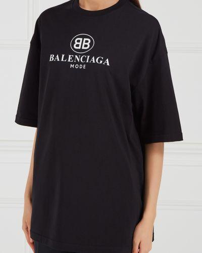 Блузка однотонная черная Balenciaga