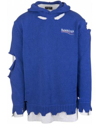 Niebieska bluza Balenciaga