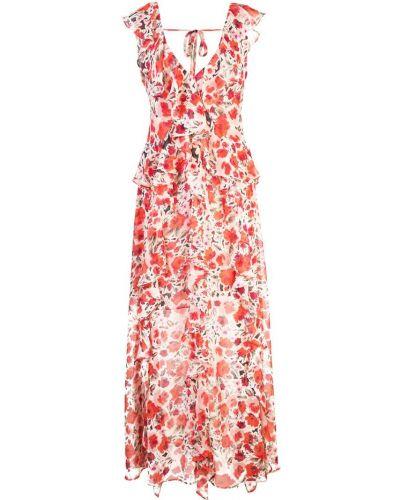 Платье макси с цветочным принтом с V-образным вырезом Misa Los Angeles