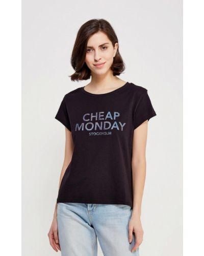Черная футболка Cheap Monday