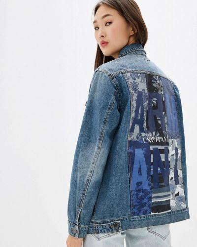 Джинсовая куртка осенняя Armani Exchange