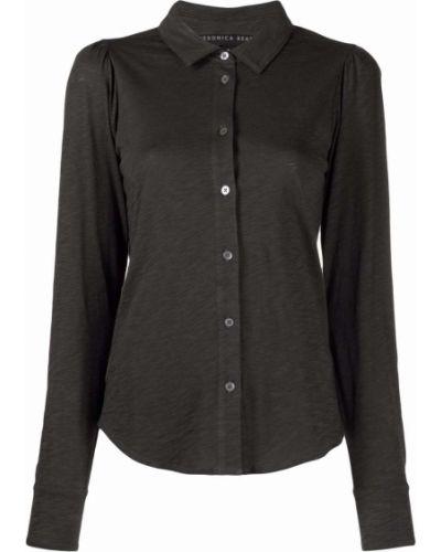 Хлопковая серая рубашка с длинными рукавами Veronica Beard