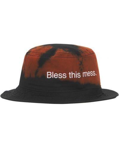 Czarny kapelusz bawełniany Famt - Fuck Art Make Tees