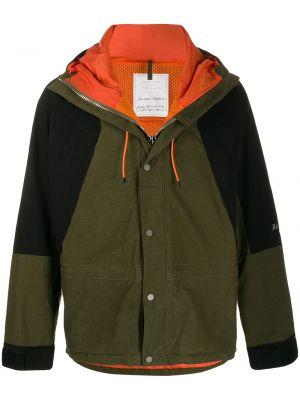 Zielony płaszcz z kapturem bawełniany Readymade