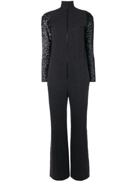 С рукавами шерстяной черный комбинезон на молнии Jean Paul Gaultier Pre-owned