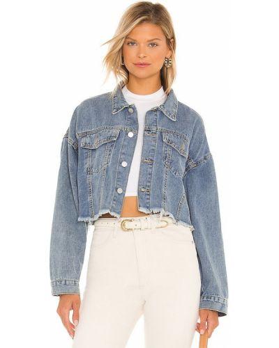 Хлопковая джинсовая куртка - синяя Elliatt