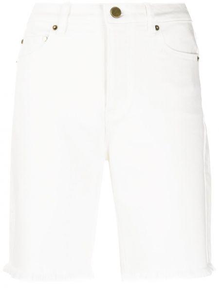 Хлопковые белые шорты с бахромой Michael Michael Kors