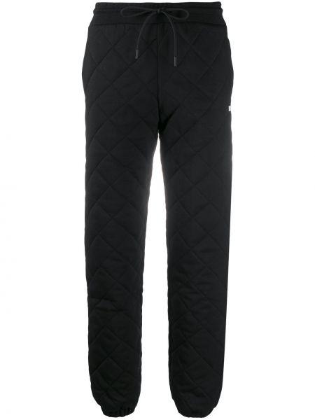 Спортивные брюки из полиэстера - черные Msgm