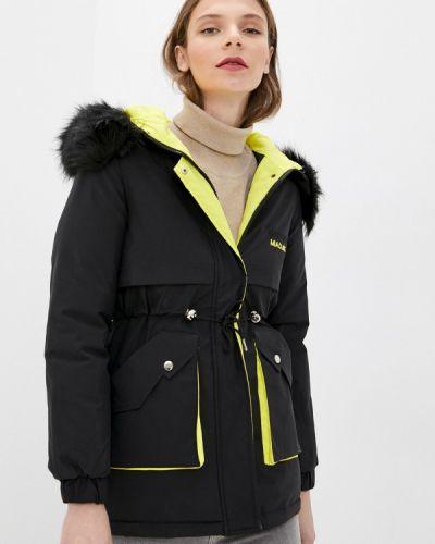 Черная утепленная куртка Miss Gabby