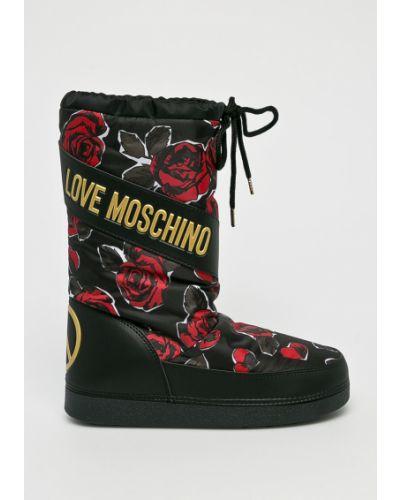 Сапоги зимние текстильные Love Moschino