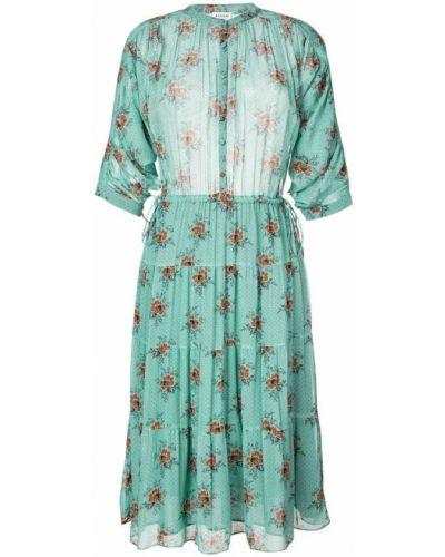 Платье миди с цветочным принтом солнце на пуговицах Masscob