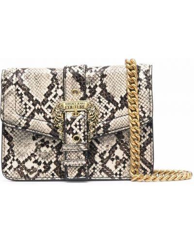 Torebka na łańcuszku - brązowa Versace Jeans Couture