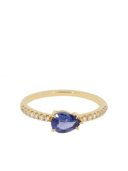 Pierścień biały niebieski Anita Ko
