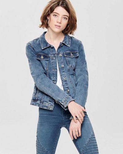 Джинсовая куртка весенняя синий Only