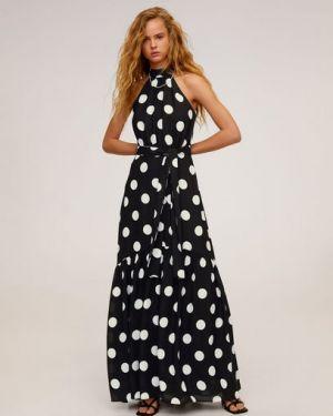 Платье в горошек с американской проймой Mango
