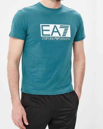 Футболка зеленый Ea7