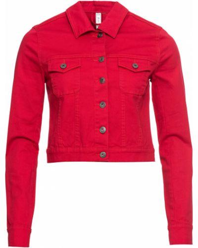 Джинсовая куртка красный Bonprix