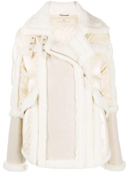 Шерстяное длинное пальто на молнии с карманами Nicole Benisti