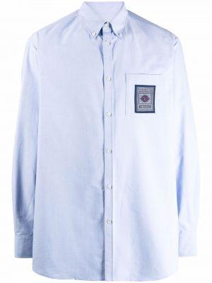 Синяя рубашка с длинным рукавом с длинными рукавами Valentino