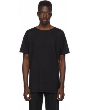 Черная рубашка с короткими рукавами с воротником Frenckenberger