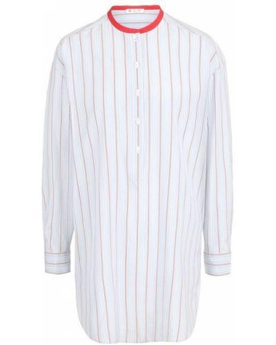 Блузка в полоску шелковая Loro Piana