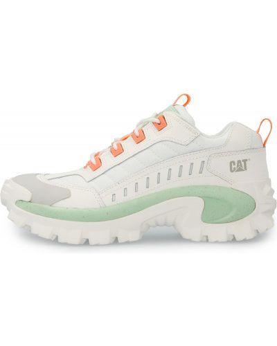 Белые кожаные полуботинки на шнуровке Caterpillar
