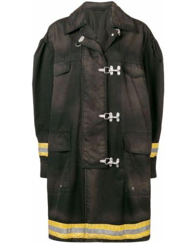 Черное пальто с воротником Calvin Klein 205w39nyc