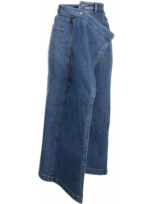 Джинсовая юбка миди - синяя Goen.j