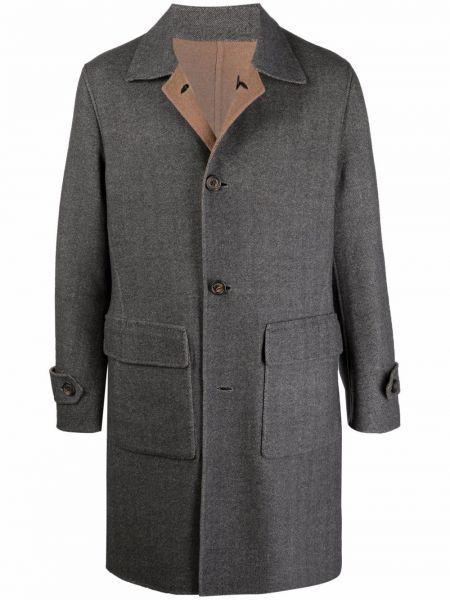 Серое шерстяное пальто Eleventy