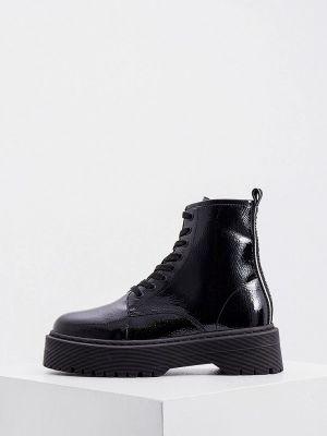 Черные высокие ботинки Armani Exchange