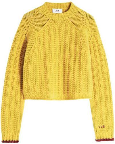 Sweter - żółty Victoria Beckham