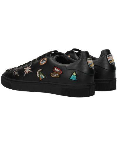 Czarne sneakersy Louis Leeman