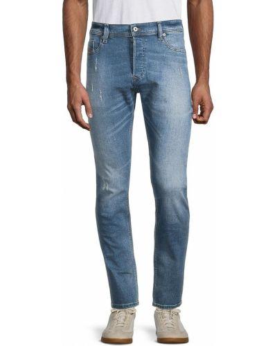 Прямые синие джинсы стрейч Diesel