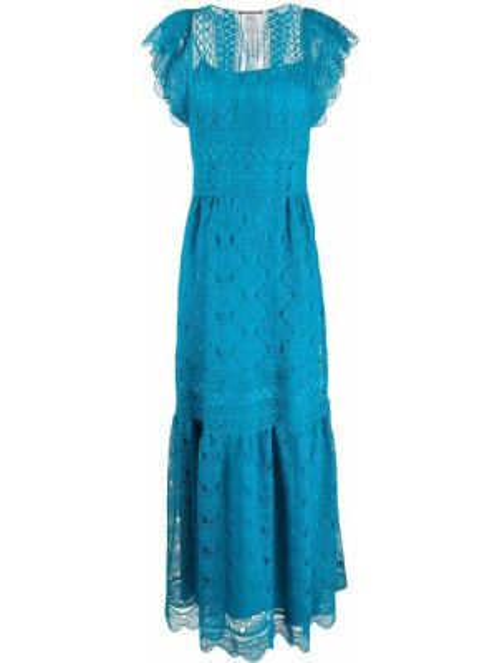 Свободное синее платье мини свободного кроя Alberta Ferretti